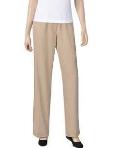Rebecca Malone Petite Solid Color Microfiber Pull-On Pants