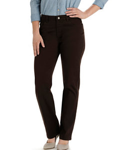 Lee Petite Deep Chocolate Relaxed Fit Straight Leg Jeans