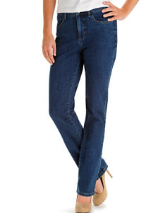 Lee Petite Seattle Wash Straight Leg Jeans