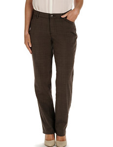Lee Petite Brown Relaxed Fit All Day Pants