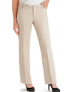 Lee Petite Parchment Maxwell Curvy Twill Pants