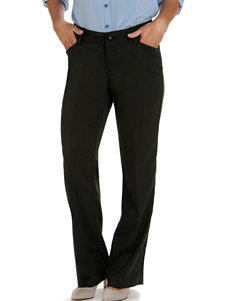 Lee Petite Black Greenwich Herringbone Maxwell Curvy Twill Pants
