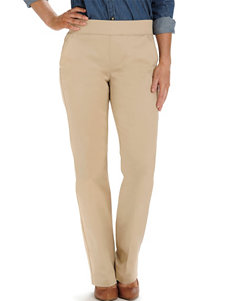 Lee Petite Whipped Latte Natural Fit Pull-On Sateen Pants