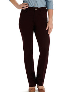 Lee Petite Mulberry Brown Classic Straight Leg Jeans