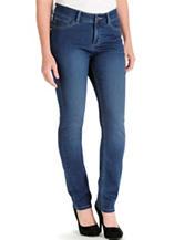 Lee® Petite Easy Fit Medium Dark Wash Frenchie Skinny Jeans