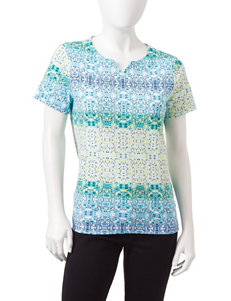 Rebecca Malone Blue Multi Tees & Tanks