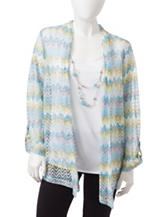 Alfred Dunner Petite Chevron Layered-Look Top