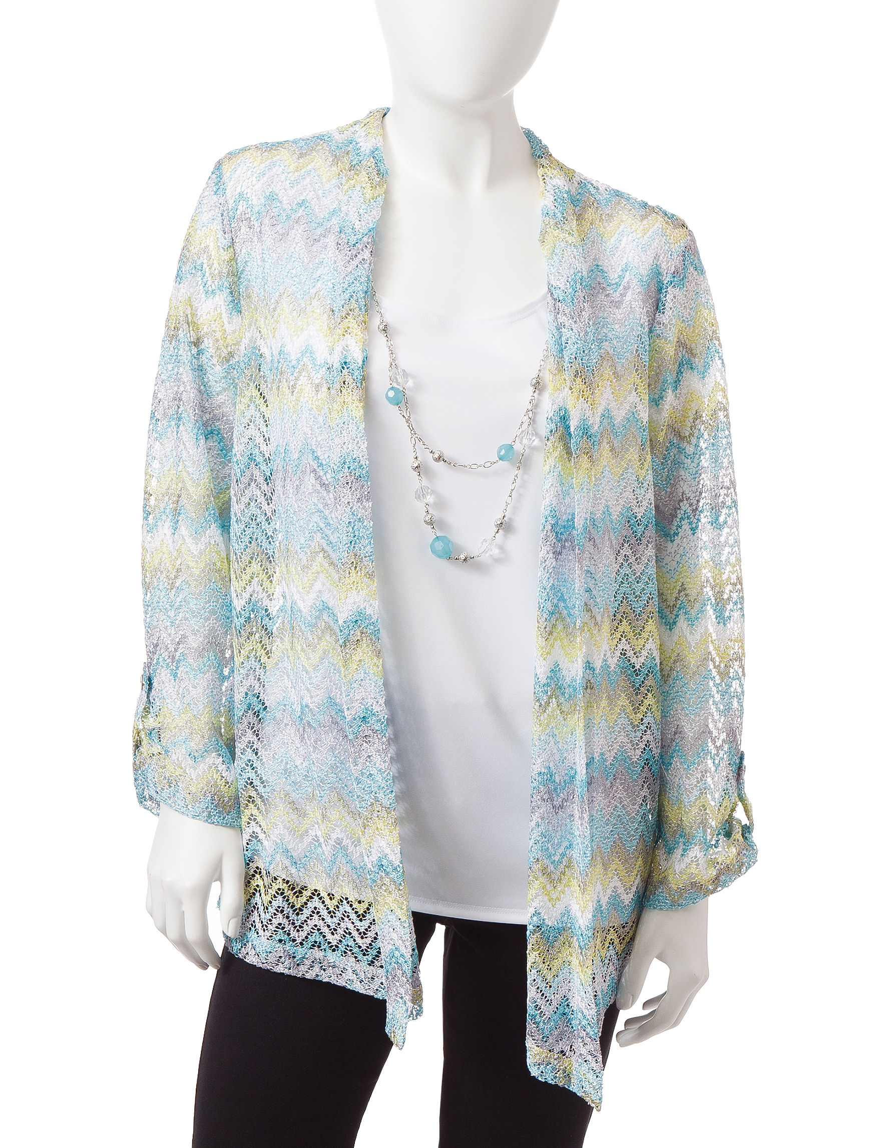 Alfred Dunner Multi Cardigans Sweaters
