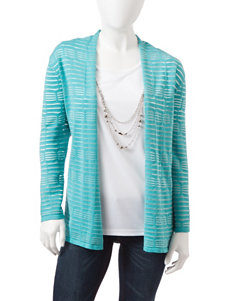 Alfred Dunner Petite Striped Layered-Look Sweater