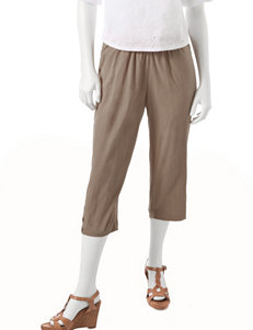 Rebecca Malone Petite Solid Color Pull-On Sheeting Capris