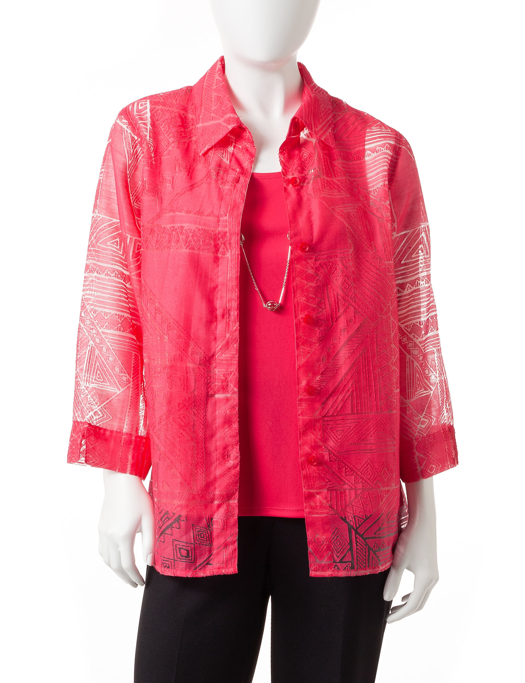 Alfred Dunner Pink Cardigans