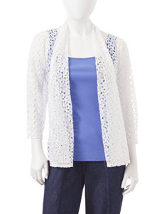 Ruby Road Petite White Lace Cardigan