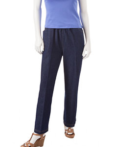 Rebecca Malone Petite Denim Pull-On Putter Pants
