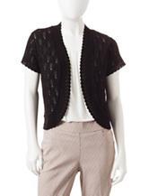 NY Collection Petite Solid Color Bolero Shrug Sweater