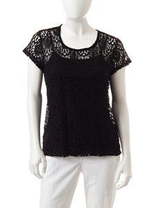 Valerie Stevens Petite Lace Knit Top