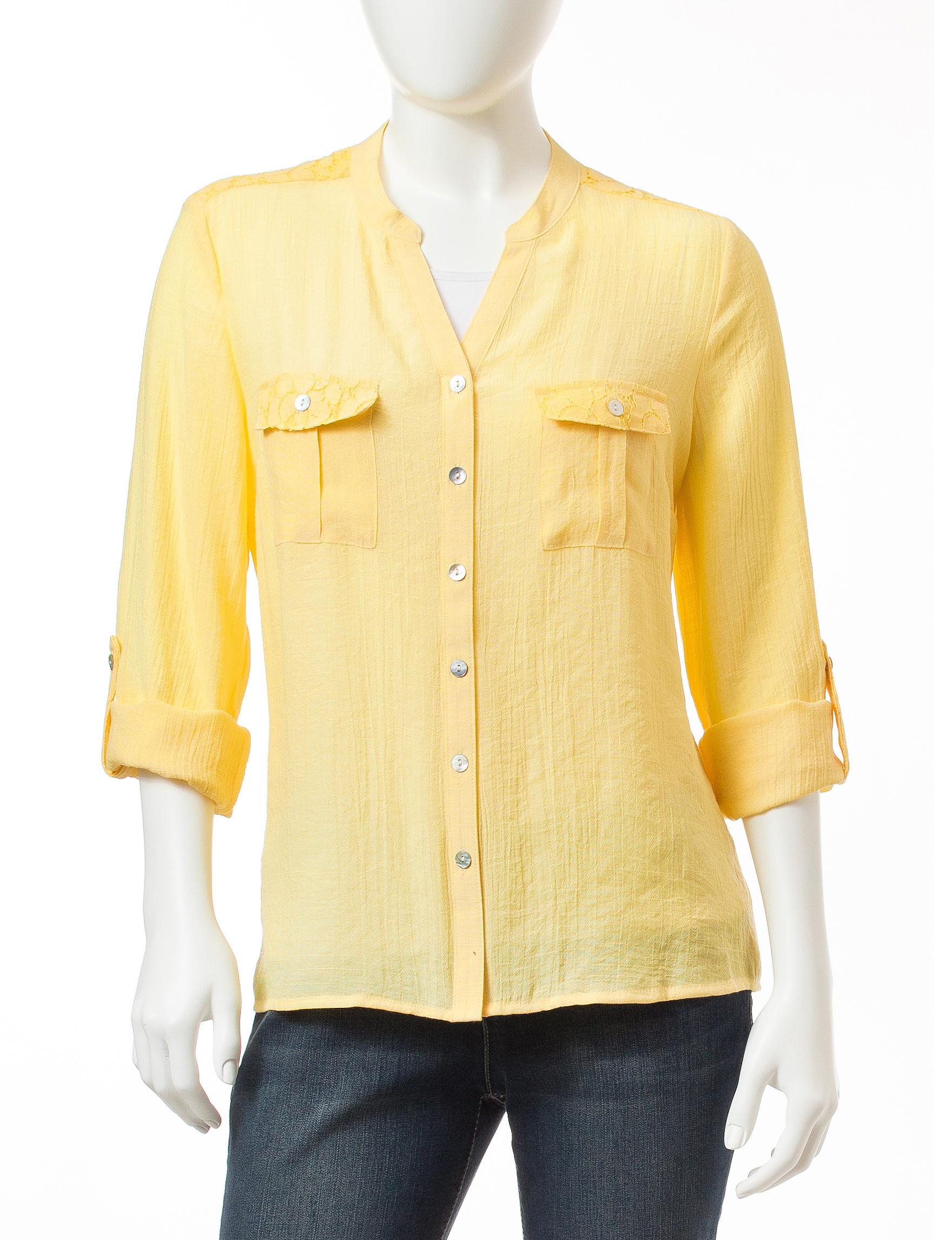 NY Collection Natural Shirts & Blouses