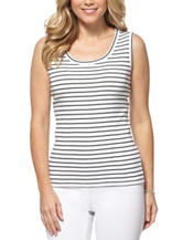 Rafaella Petite Striped Print Tank Top