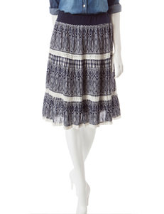 Hannah Petite Diamond Print Crochet Lace Maxi Skirt
