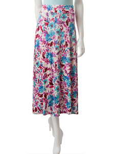 Hannah Petite Floral Print Maxi Skirt