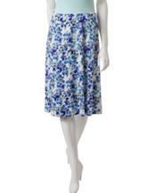 Hannah Petite Floral Print Midi Skirt