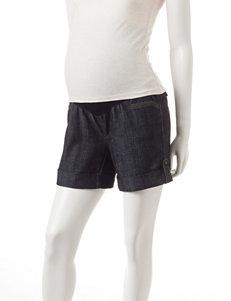 First Kick Dark Wash Denim Maternity Shorts