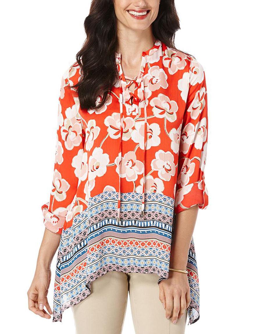 Rafaella Orange Shirts & Blouses