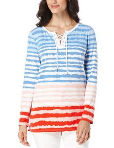 Rafaella Petite Mixed Stripe Print Tunic Top