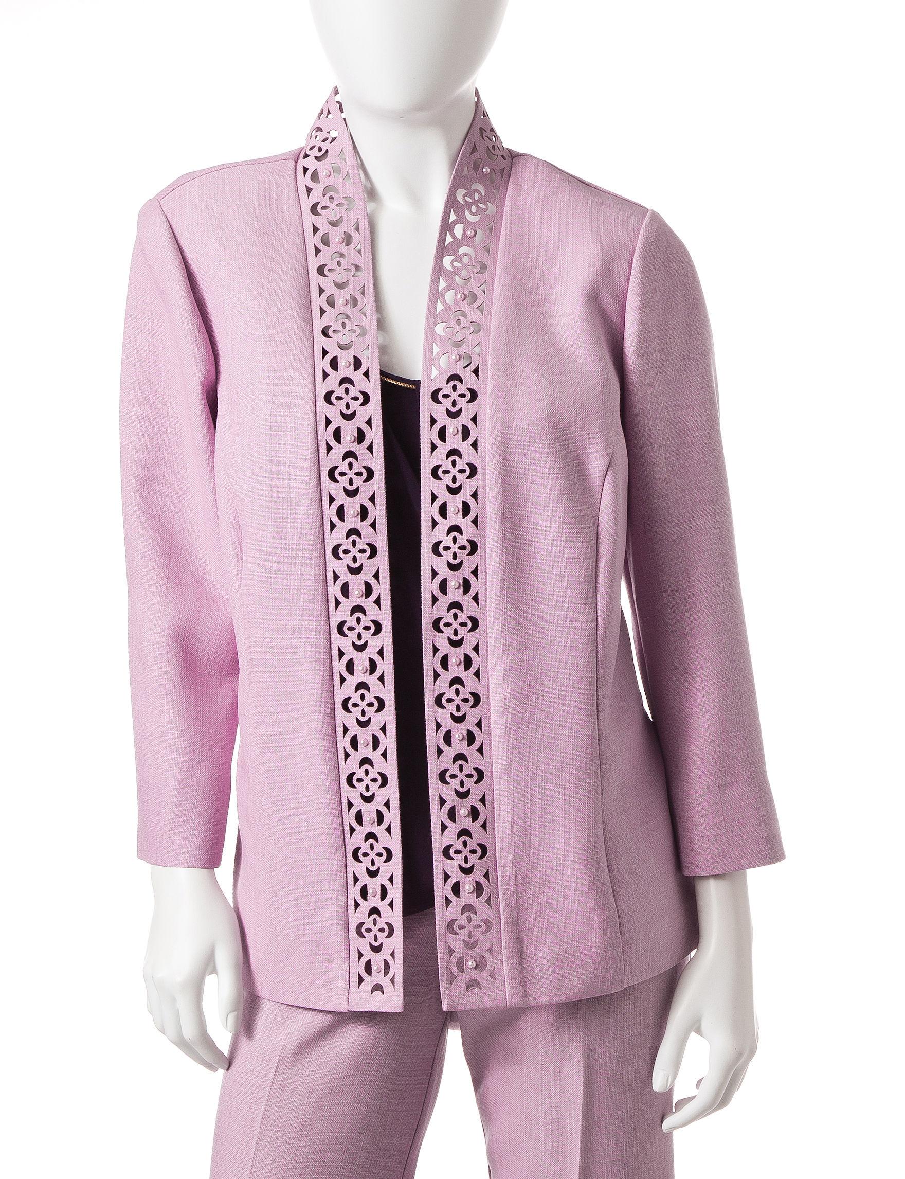 Alfred Dunner Lavender Lightweight Jackets & Blazers