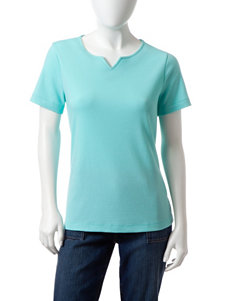 Rebecca Malone Petite Notch Top