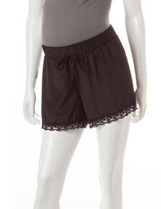 Three Seasons Maternity Lace Trim Shorts