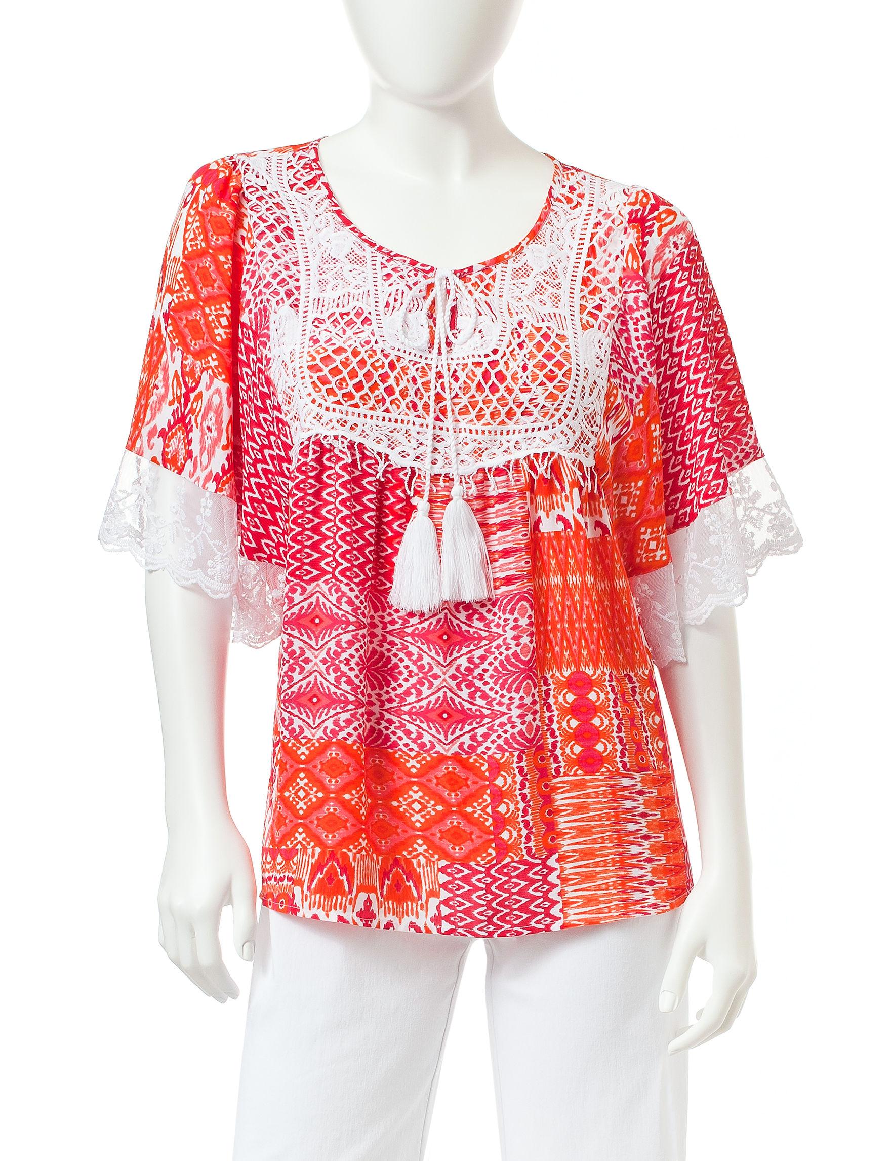 Valerie Stevens Pink / Orange Shirts & Blouses