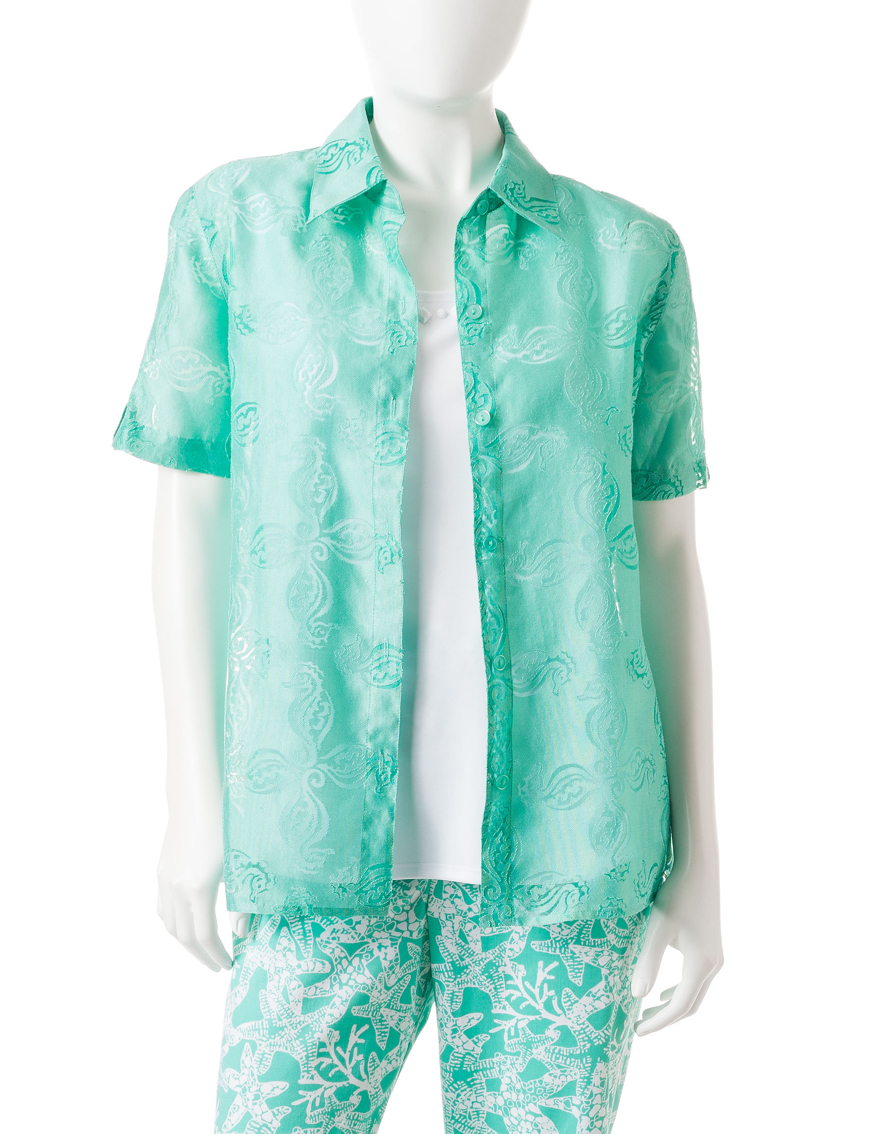 Alfred Dunner Mint Shirts & Blouses