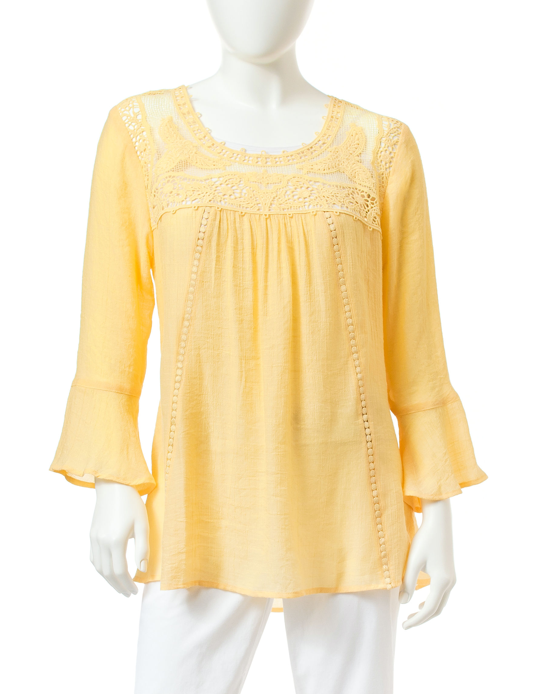Valerie Stevens Yellow Shirts & Blouses