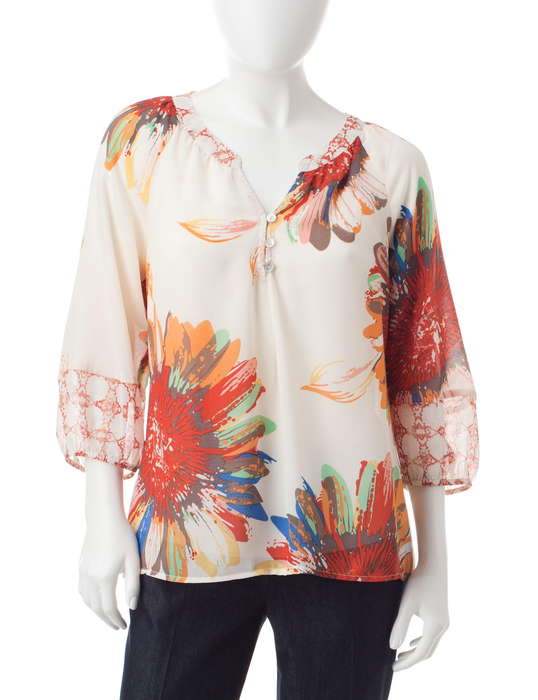 Valerie Stevens Orange Shirts & Blouses