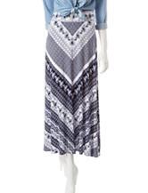 Hannah Petite Mixed Chevron Print Maxi Skirt