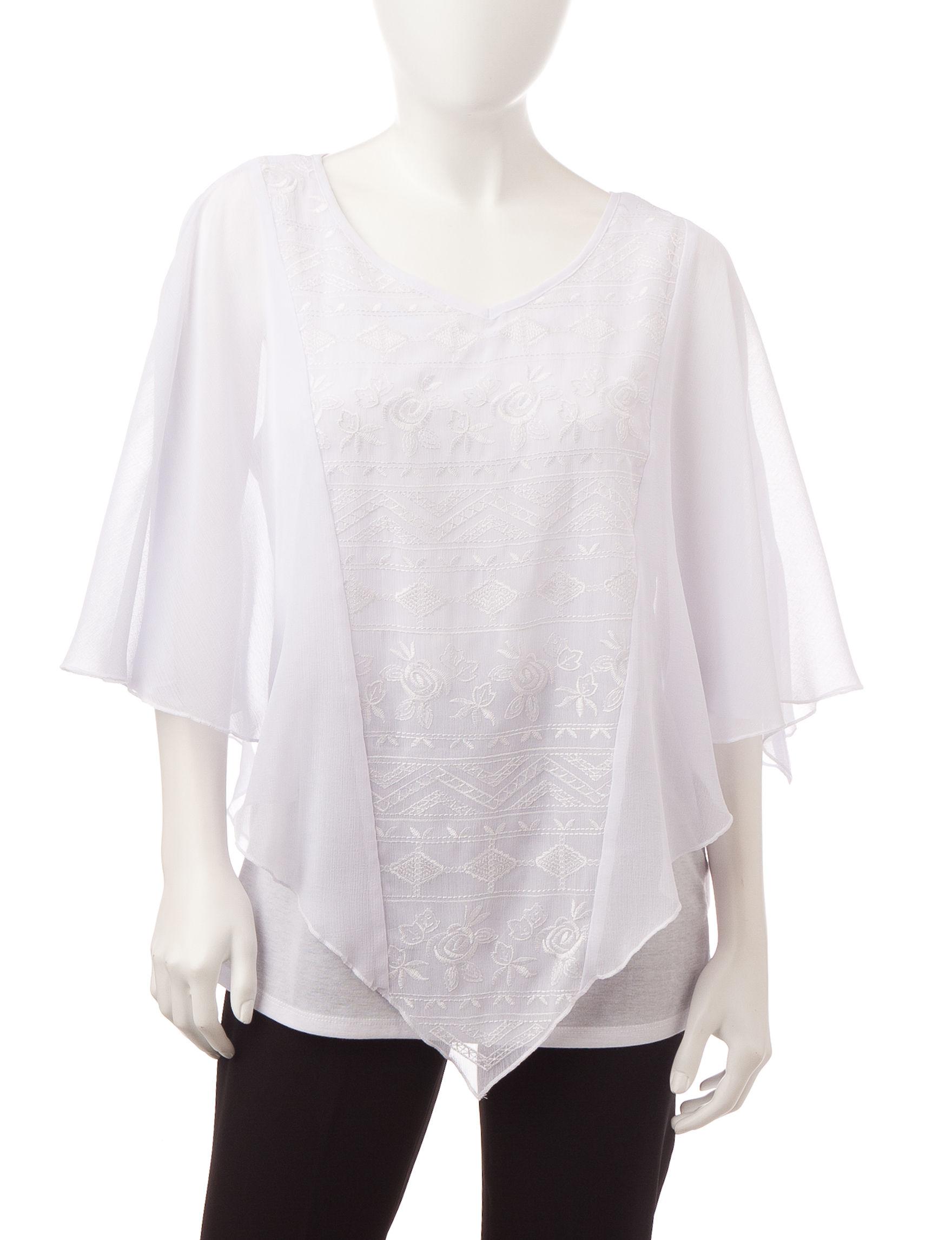 Energe White Shirts & Blouses