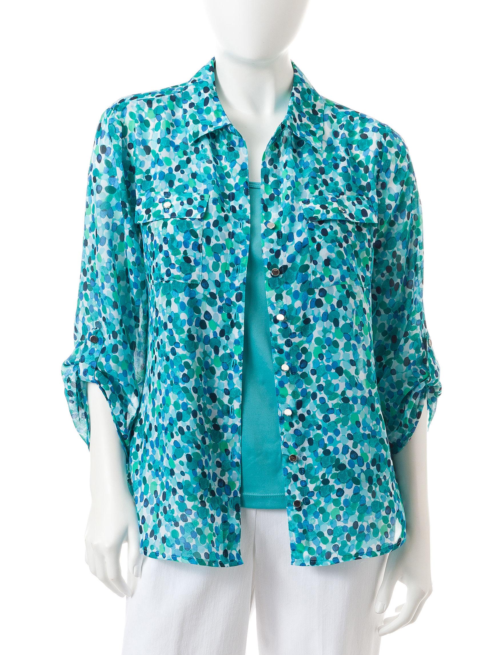 Rebecca Malone Navy Multi Shirts & Blouses