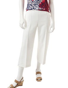 Alfred Dunner White Capris & Crops