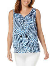 Rafaella Petite Layered Abstract Print Top