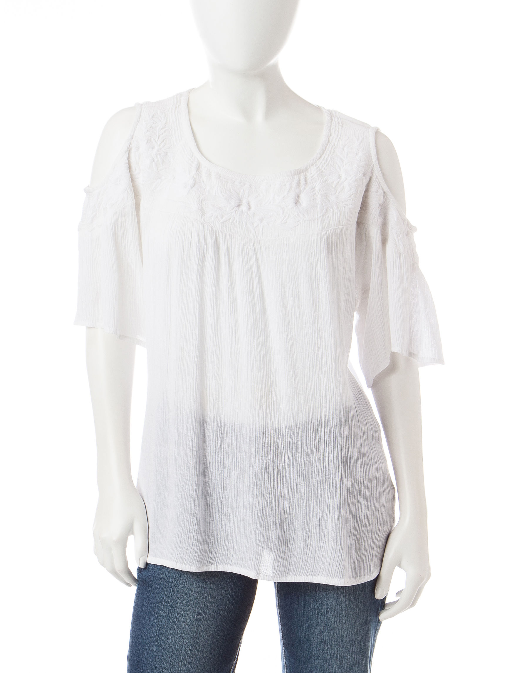 Signature Studio Off White Shirts & Blouses