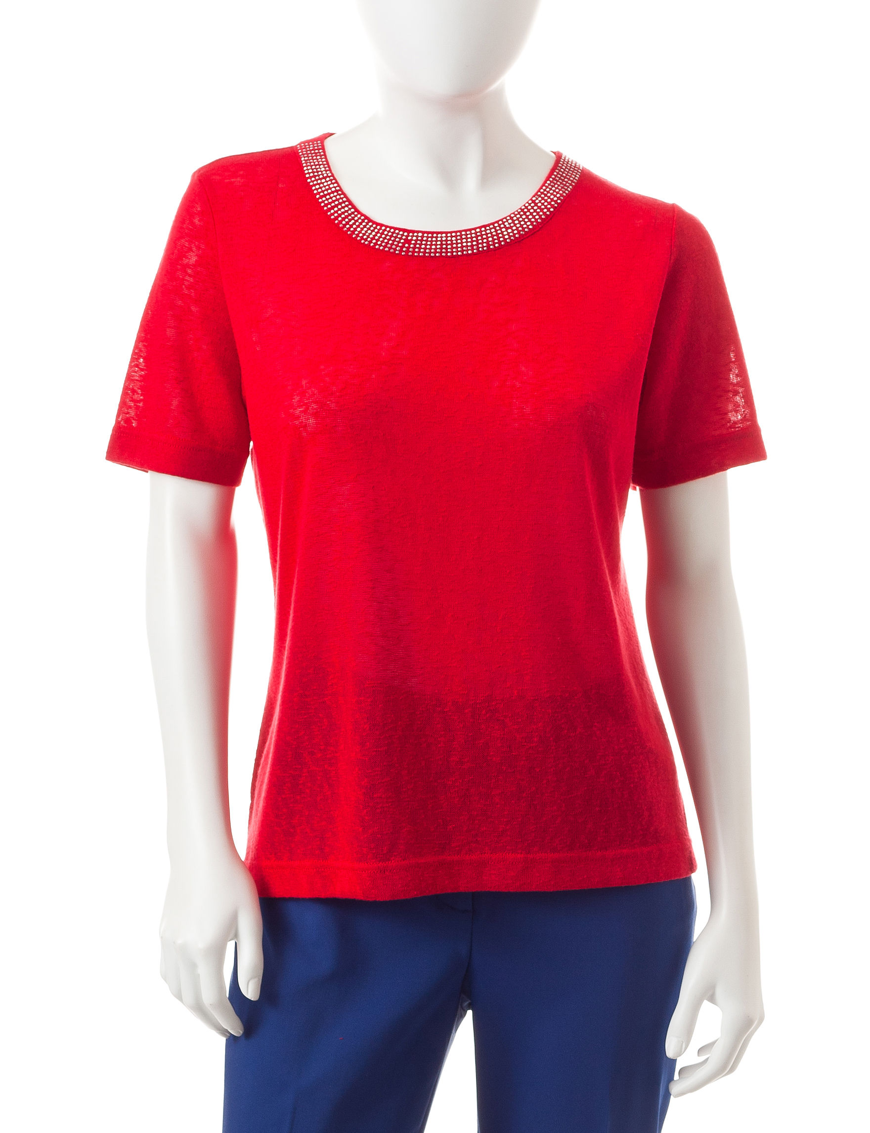 Cathy Daniels Red Tees & Tanks