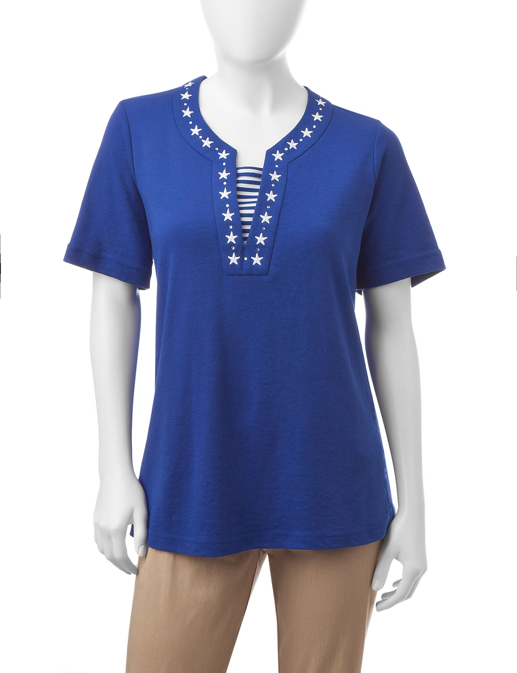 Cathy Daniels Royal Blue Tees & Tanks
