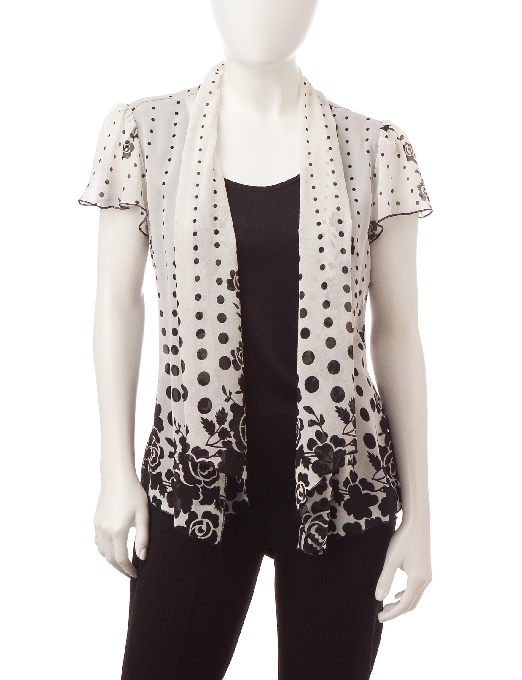 Rebecca Malone Black Shirts & Blouses