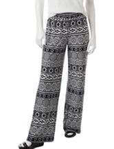 NY Collection Petite Biadere Print Pull-On Pants