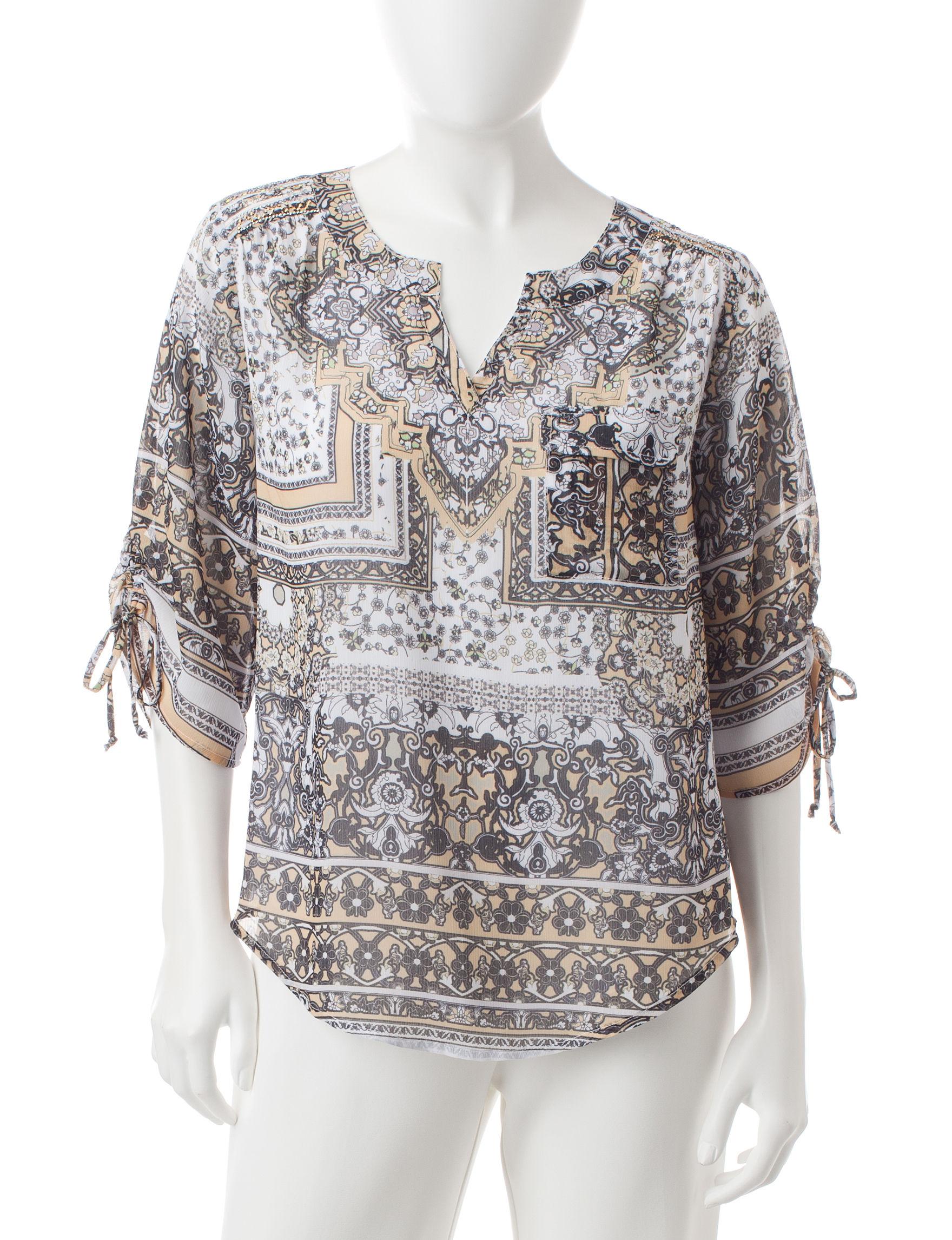 Energe Dark Brown Shirts & Blouses