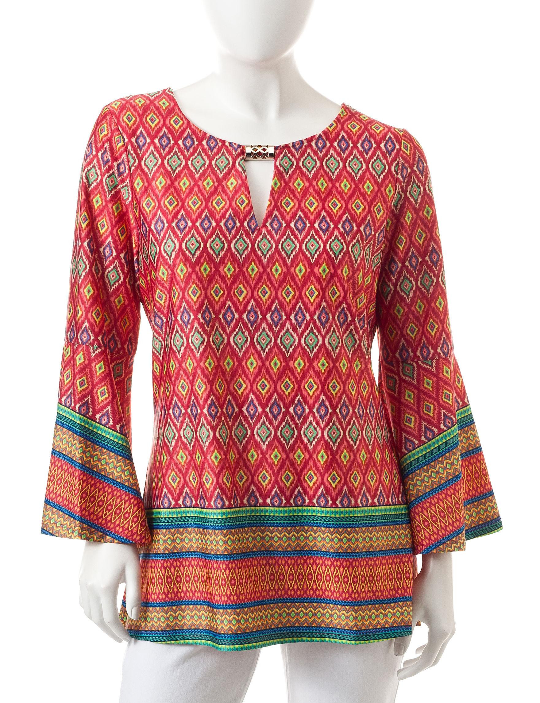 Zac & Rachel Coral Shirts & Blouses