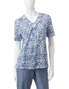 Alfred Dunner Petite Abstract Print Top