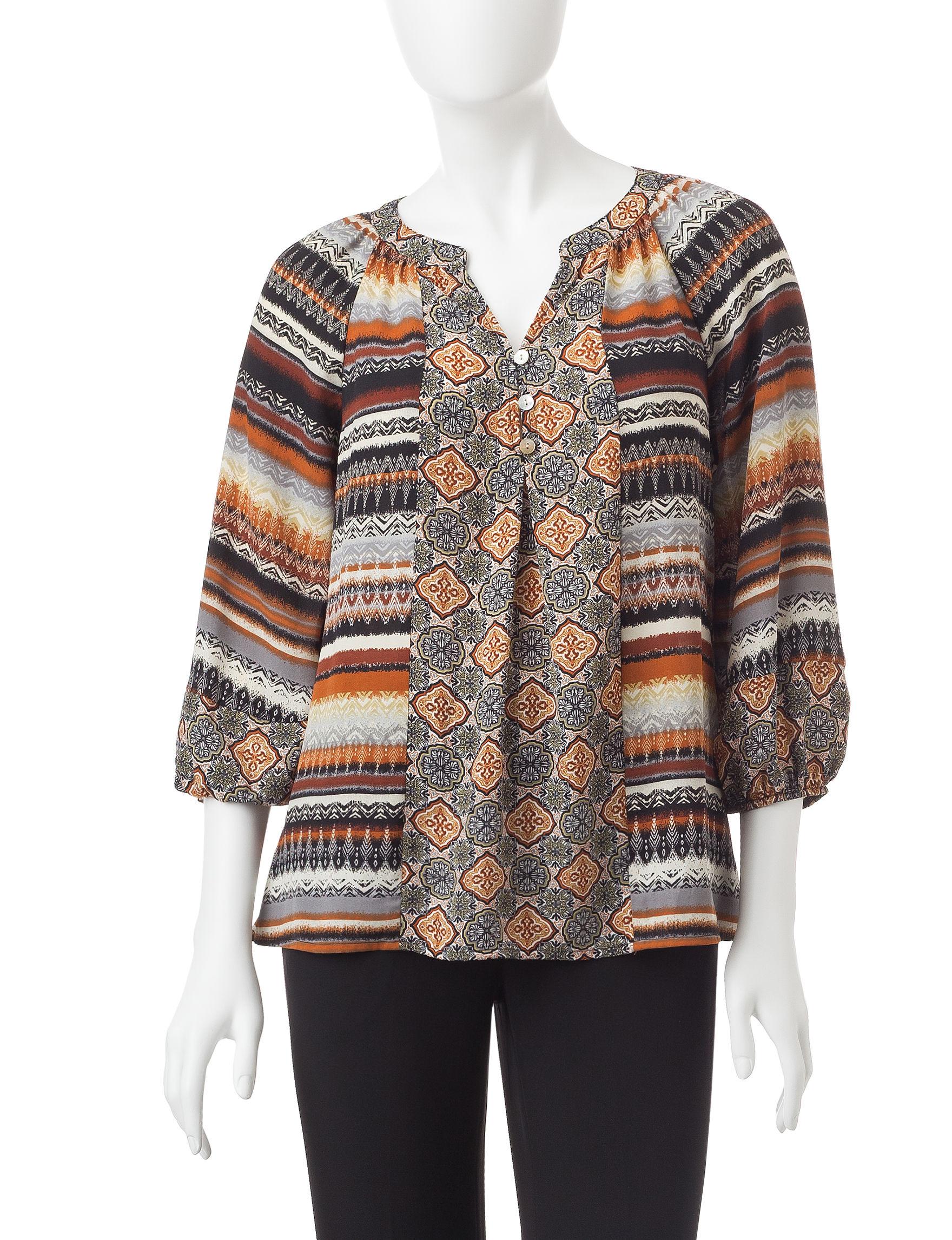 Valerie Stevens Mocha Shirts & Blouses