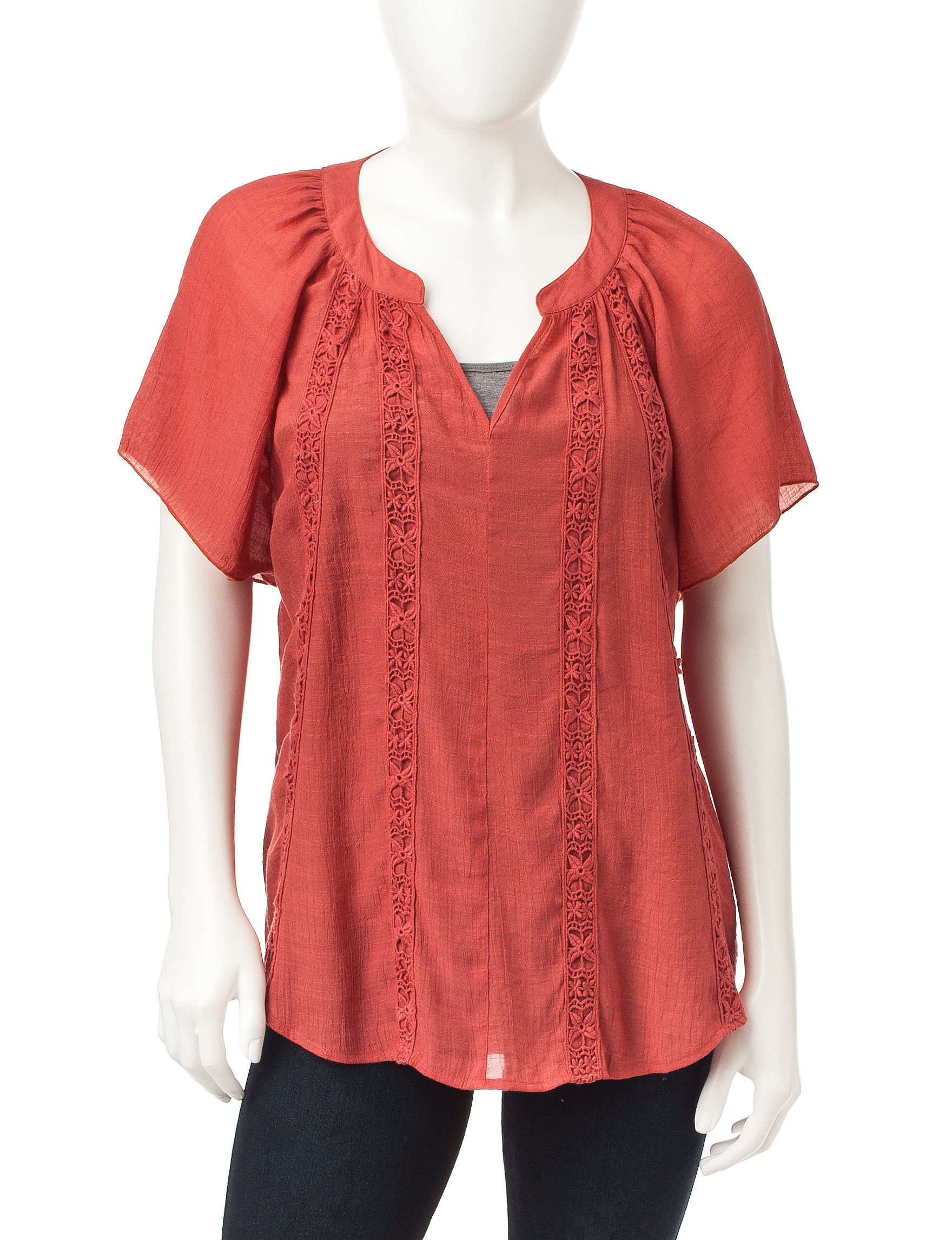Signature Studio Terracotta Shirts & Blouses