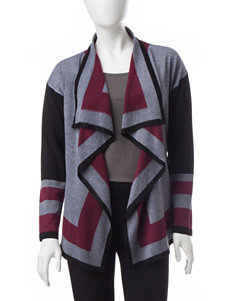 Valerie Stevens Petite Color Block Cardigan